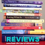 Law of Attraction Book Reviews Link - books image